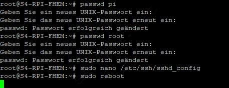 Als Root User über SSH auf Raspberry Pi zugreifen